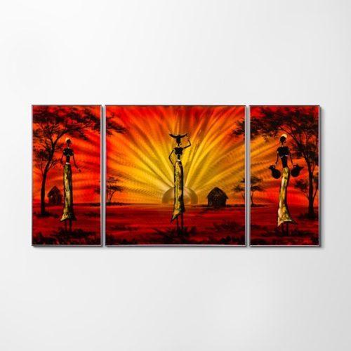 ZANGA napfelkelte alumínium falikép, 100x50 cm