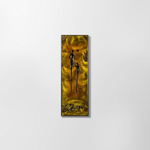 ZANGA szeretet alumínium falikép, 20x60 cm