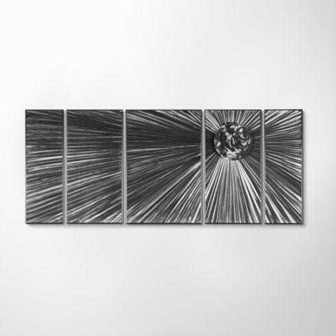 ZANGA napfogyatkozás alumínium falikép, 140x60cm