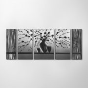 ZANGA bonsai alumínium falikép, 140x60 cm