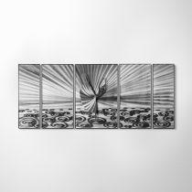 ZANGA balettáncos alumínium falikép, 140x60 cm