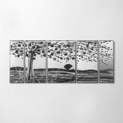 ZANGA feltámadó szél alumínium falikép, 140x60 cm