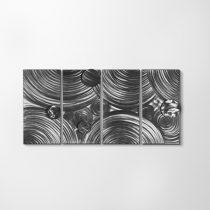 ZANGA körforgás alumínium falikép, 160x80 cm