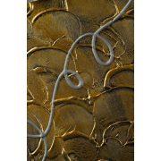 ZANGA szőlőlevél alu-olaj kombó dombormű falikép I, 30x120 cm