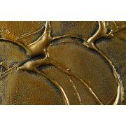 ZANGA szőlőlevél alu-olaj kombó dombormű falikép II, 30x120 cm