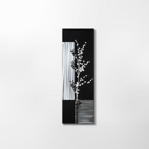 ZANGA cseresznyeág alu-olaj kombó dombormű falikép I, 40x120 cm
