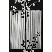 ZANGA cseresznyeág alu-olaj kombó dombormű falikép III, 40x120 cm