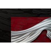 ZANGA hegyvonulat alu-olaj kombó dombormű falikép, 156x50 cm