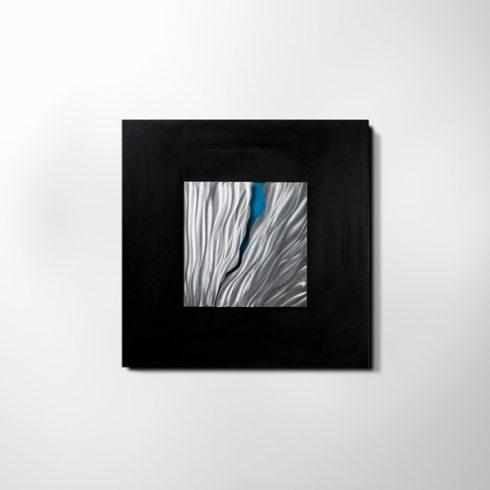 ZANGA torkolat alu-olaj kombó dombormű falikép, 80x80 cm