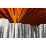 ZANGA naplemente a kanyonban alu-olaj kombó dombormű falikép, 80x80 cm