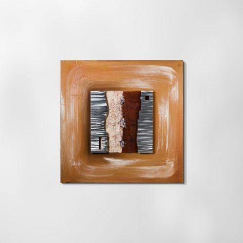ZANGA fatörzs alu-olaj kombó dombormű falikép, 80x80 cm