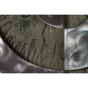 ZANGA absztrakt jin-jang alu-olaj kombó dombormű falikép, 80x80 cm