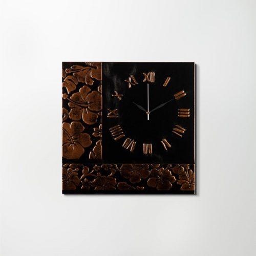 ZANGA bőr falióra II, 50x50 cm