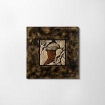 ZANGA hulló levél bőr falikép, 62x62 cm