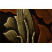 ZANGA őszi levél bőr falikép, 62x62 cm