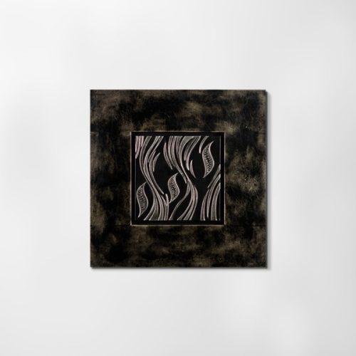 ZANGA patak bőr falikép, 62x62 cm