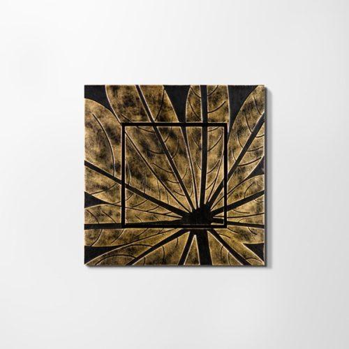 ZANGA falevél bőr falikép I, 72x72 cm