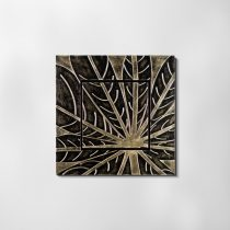 ZANGA falevél bőr falikép II, 72x72 cm