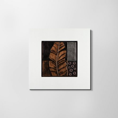 ZANGA tollpihe bőr falikép I, 72x72 cm