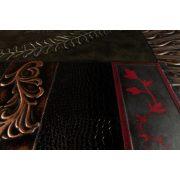 ZANGA fenyőág bőr falikép, 80x80 cm