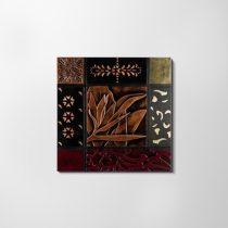 ZANGA liliom bőr falikép, 80x80 cm