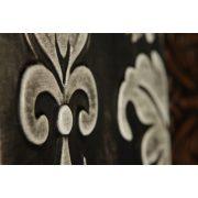 ZANGA orchidea bőr falikép I, 80x80 cm