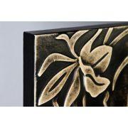 ZANGA orchidea bőr falikép II, 80x80 cm