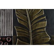 ZANGA tollpihe bőr falikép III, 60x60 cm