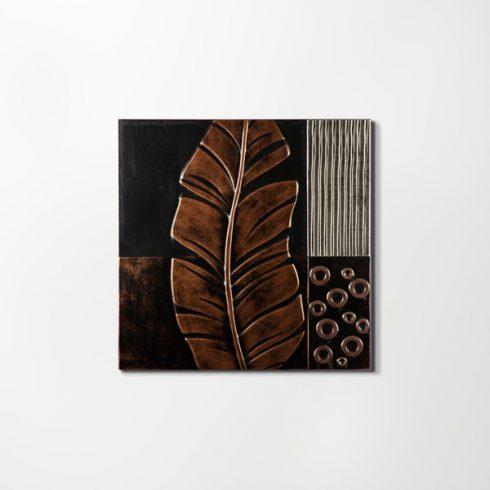 ZANGA tollpihe bőr falikép IV, 60x60 cm