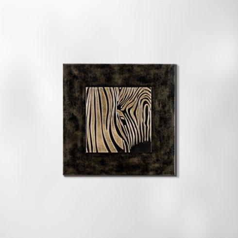 ZANGA zebra bőr falikép I, 60x60 cm