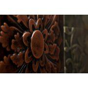 ZANGA virágmontázs bőr falikép I, 150x50 cm