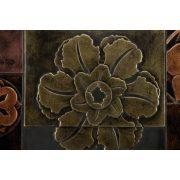 ZANGA virágmontázs bőr falikép II, 150x50 cm