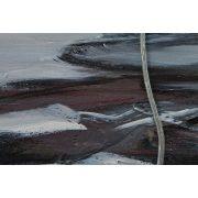 ZANGA lótuszvirág olajkép I, 120x40 cm
